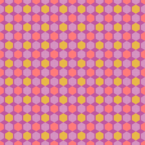 Hexie Hive - Plum fabric by joybucket on Spoonflower - custom fabric