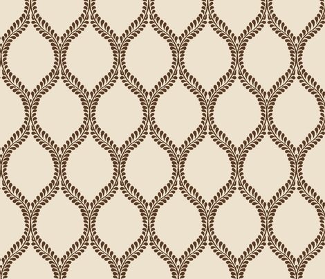Chocolate_Leaves_ikat fabric by tullia on Spoonflower - custom fabric