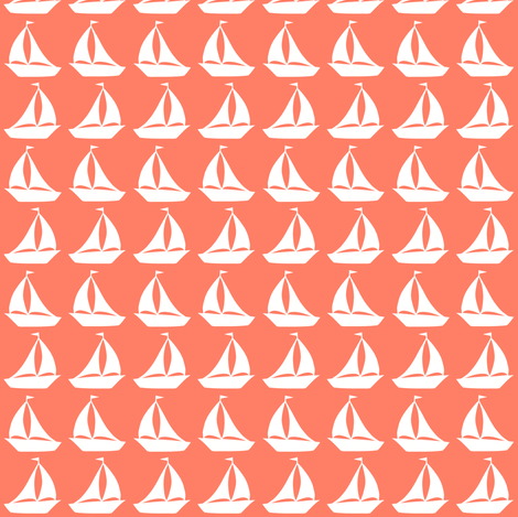 tiny boats fabric by annekecaramin on Spoonflower - custom fabric
