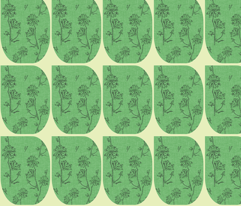 Mod Chicory fabric by retrofiedshop on Spoonflower - custom fabric