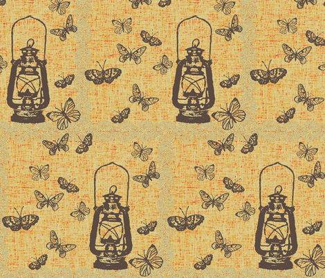 Kitschy Lantern fabric by retrofiedshop on Spoonflower - custom fabric