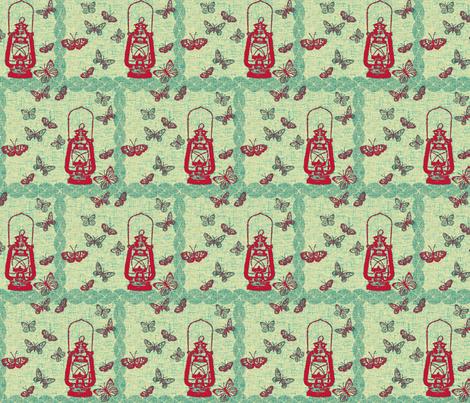 red_lantern_line-ch fabric by retrofiedshop on Spoonflower - custom fabric