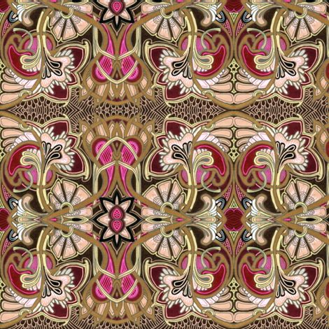 Welcome to the 20th Century fabric by edsel2084 on Spoonflower - custom fabric