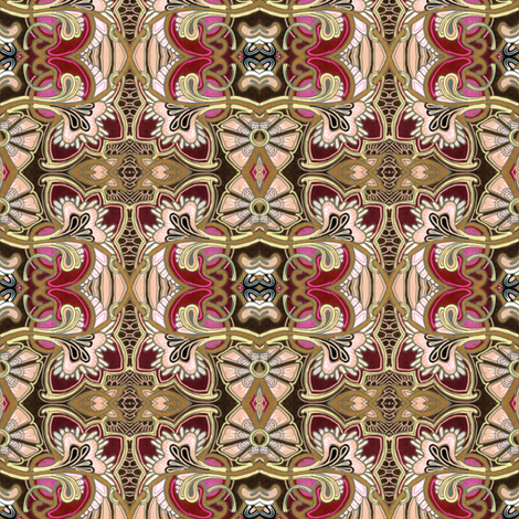 King Arthur and Guenevierre go Art Nouveau fabric by edsel2084 on Spoonflower - custom fabric