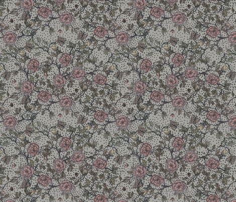 Memories of an Old Rose fabric by glimmericks on Spoonflower - custom fabric
