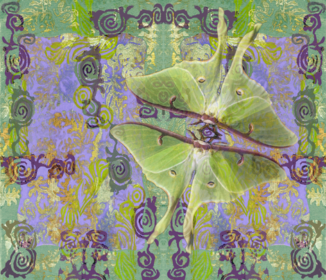 Luna Moth fabric by rubyrice on Spoonflower - custom fabric
