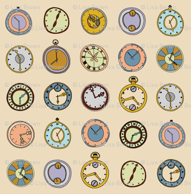 hand drawn clocks