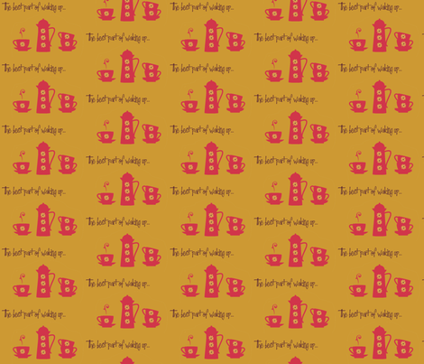 the best part of waking up fabric by susanferris on Spoonflower - custom fabric