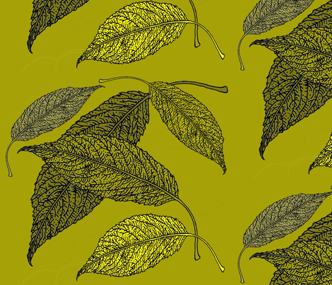 BAUER-LeafFabricGreen fabric by scatteredseeds on Spoonflower - custom fabric
