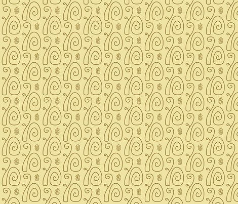 Swirly Squirrels fabric by modgeek on Spoonflower - custom fabric