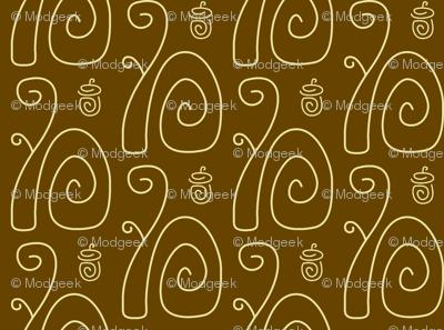 Swirly Squirrels Brown