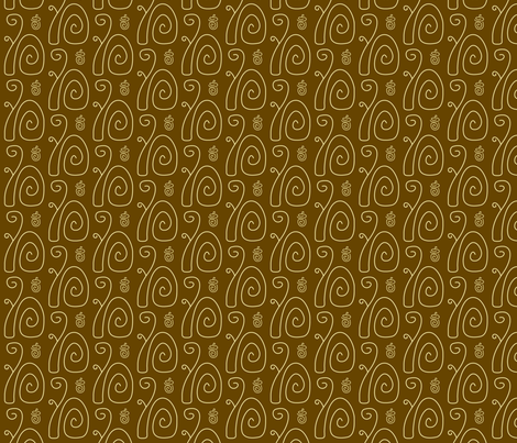 Swirly Squirrels Brown fabric by modgeek on Spoonflower - custom fabric