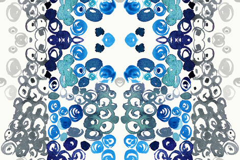 "cestlaviv_Zebradot Blue RRr at 54"" fabric by cest_la_viv on Spoonflower - custom fabric"