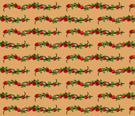 Rose Vine fabric by magneticcatholic on Spoonflower - custom fabric