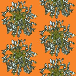 BAUER - Tropical Light Blue Flowers