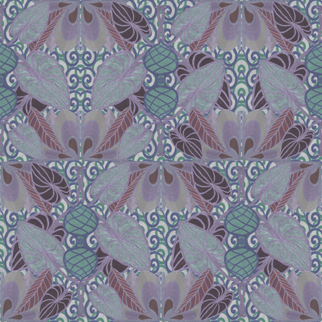 Twilight In a Persian garden fabric by su_g on Spoonflower - custom fabric