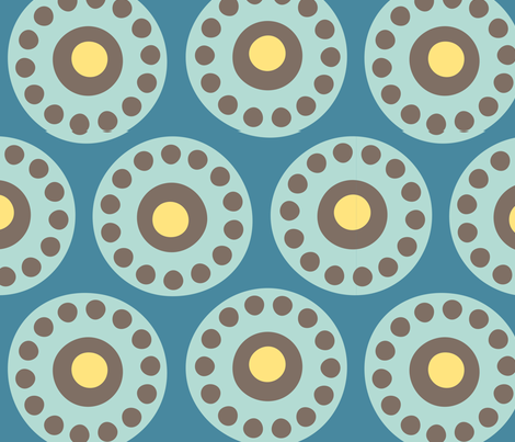 centrifuge rotors - aqua 01 fabric by aperiodic on Spoonflower - custom fabric
