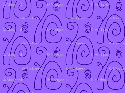 Swirly Squirrels Lavender