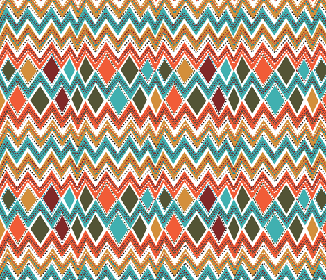 Diamonds & Chevs fabric by afromartha on Spoonflower - custom fabric