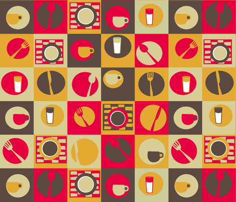 Dinette fabric by violet's_pet_spider on Spoonflower - custom fabric