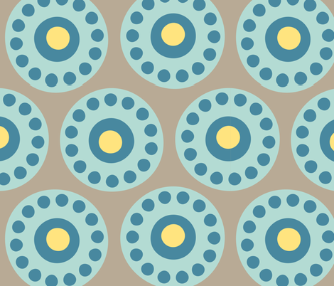 centrifuge rotors - aqua 03 fabric by aperiodic on Spoonflower - custom fabric