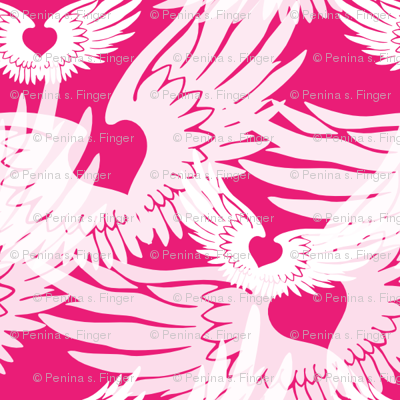 Heartwings II: Pink and White