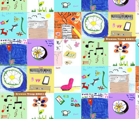 Brownie_Quilt_pattern_design fabric by kiku on Spoonflower - custom fabric