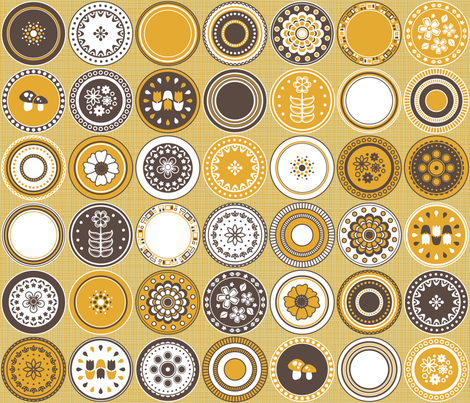 A Retro Plateful of Patterns fabric by robyriker on Spoonflower - custom fabric
