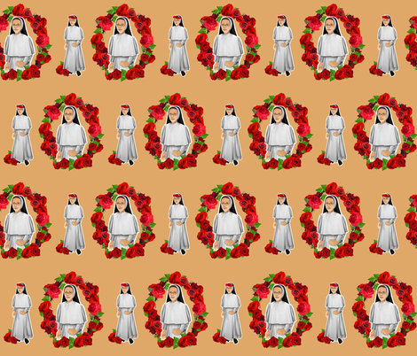 Nuns N' Roses Dominican sisters fabric by magneticcatholic on Spoonflower - custom fabric