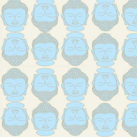 Buddha party  (light) fabric by motleycruiser on Spoonflower - custom fabric