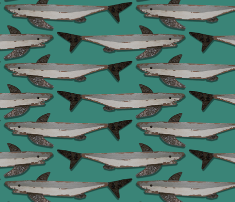 Shark Jam fabric by bippidiiboppidii on Spoonflower - custom fabric