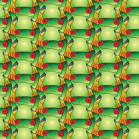 Tessellating Frogs fabric by ebygomm on Spoonflower - custom fabric