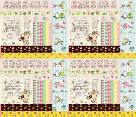 Kato's scrapbook fabric by kato_kato on Spoonflower - custom fabric