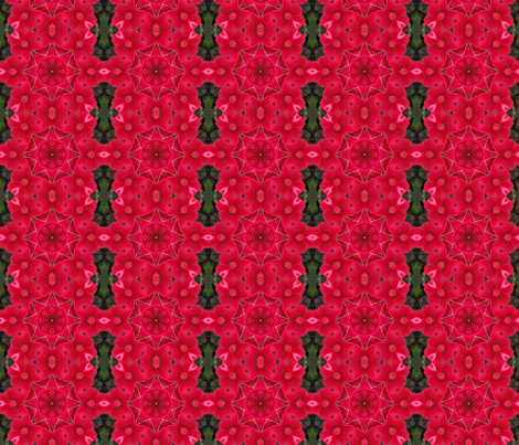 Crabapple blossom kaleidoscope fabric by anniedeb on Spoonflower - custom fabric