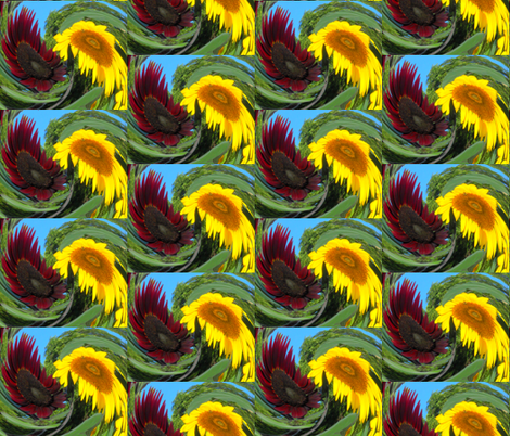 Dizzy Sunflowers fabric by anniedeb on Spoonflower - custom fabric