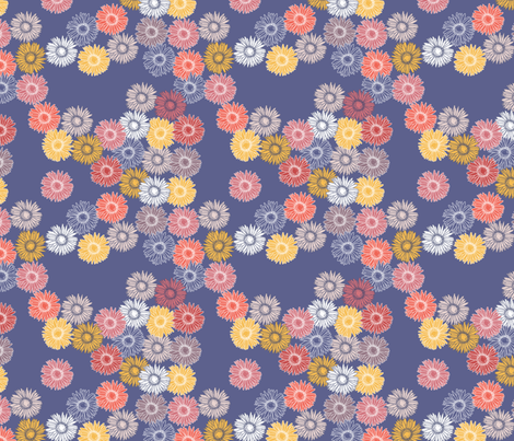 gerberas in sunset beach fabric by creative_merritt on Spoonflower - custom fabric