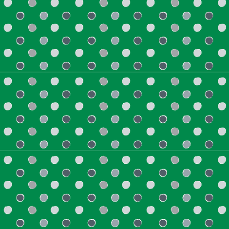 Green Polka Dot fabric by kelly_ventura on Spoonflower - custom fabric