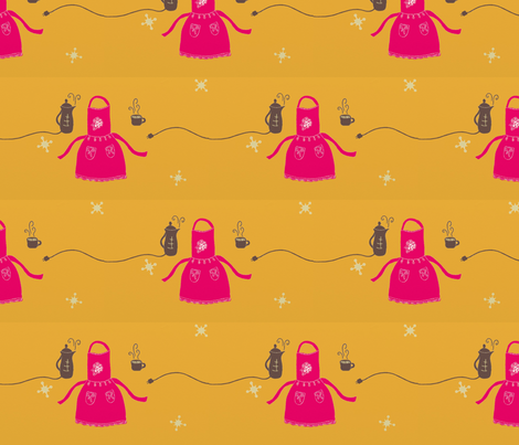 retro_kitchen2 fabric by renevere on Spoonflower - custom fabric