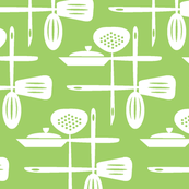 Kitchenwares Retro White - Green