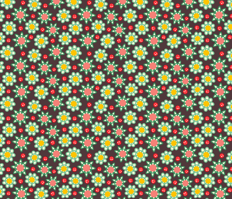 loopy floral fabric by lola_designs on Spoonflower - custom fabric