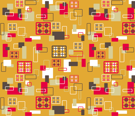 Hobs kitchen on orange? fabric by squeakyangel on Spoonflower - custom fabric