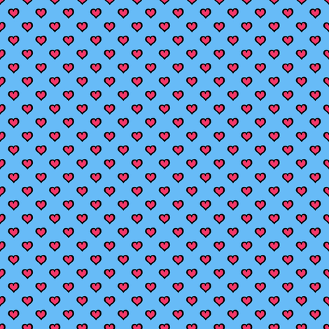 Comic Book Hearts fabric by siya on Spoonflower - custom fabric