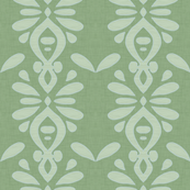 Hawaiian Linen stripe MOSS