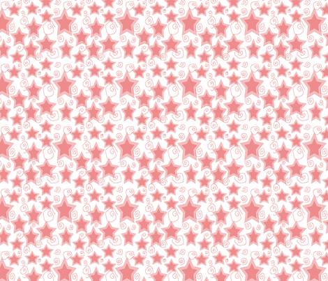 Stars__Spirals_in_Pink fabric by trishadstudio on Spoonflower - custom fabric