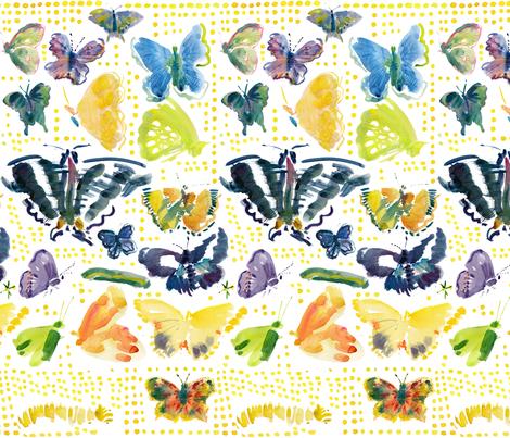 cestlaviv_butterflies fabric by cest_la_viv on Spoonflower - custom fabric