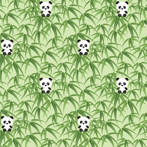 Little Panda fabric by jazzypatterns on Spoonflower - custom fabric