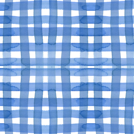 c'est la viv_sky gingham fabric by cest_la_viv on Spoonflower - custom fabric
