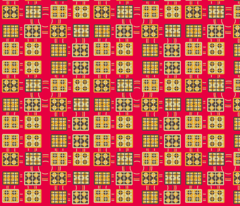 Hob tiles retro kitchen fabric by squeakyangel on Spoonflower - custom fabric