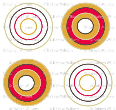 Retro circles on white