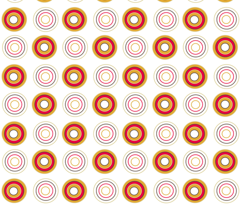 Retro circles on white fabric by elizabethjones on Spoonflower - custom fabric